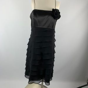 NWT White House Black Market TIERED CHIFFON Dress